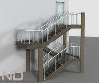 stairs 3d max