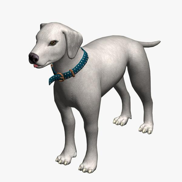 dog white 3ds