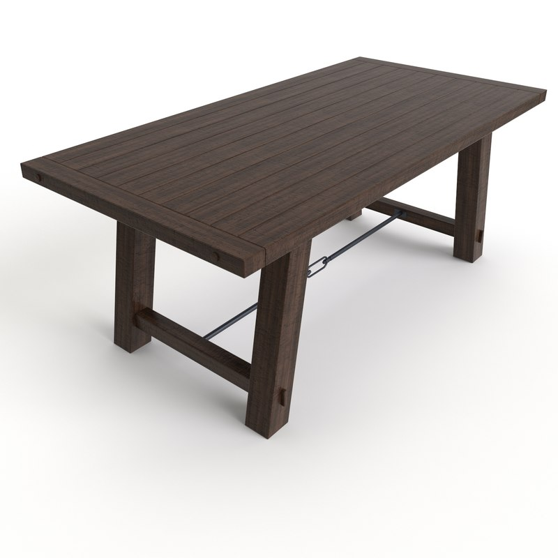dining table benchwright fixed 3d model