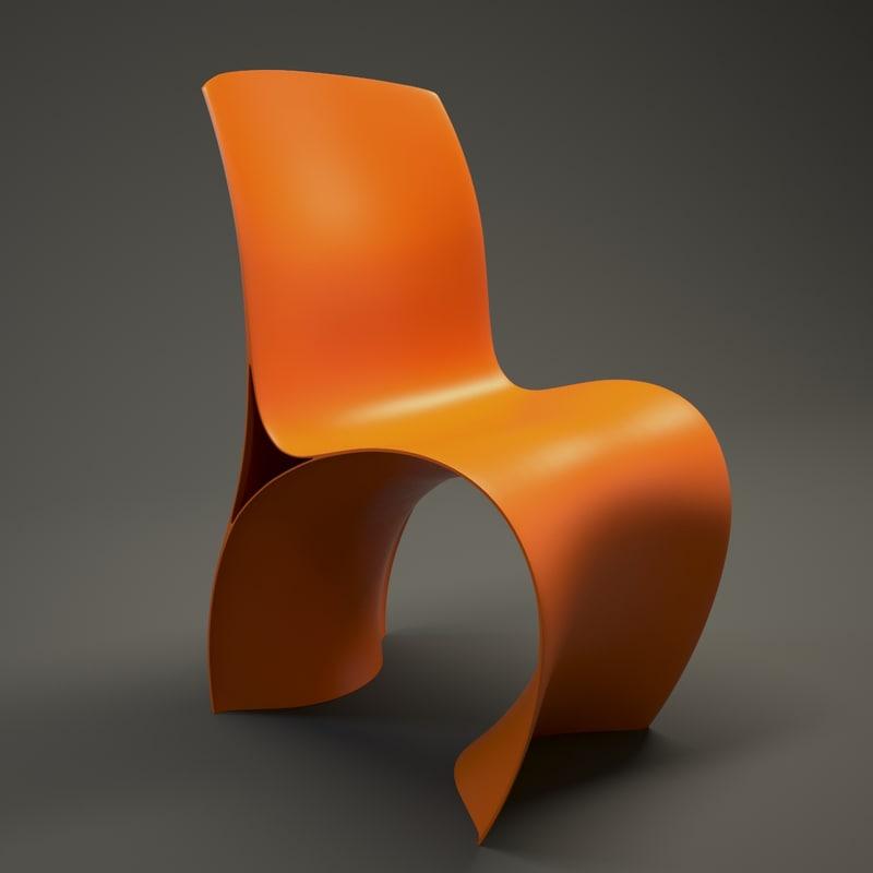 moroso skin chair 3d max
