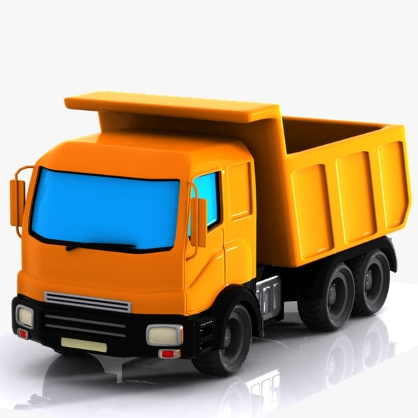 3d cartoon truck toon model