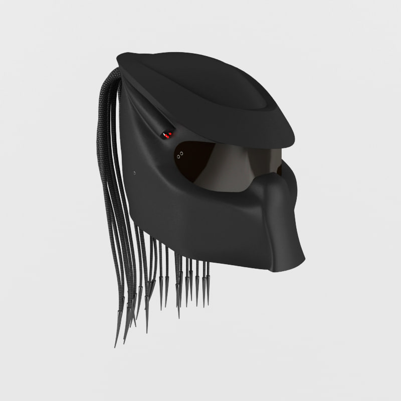 racing predator helmet 3d max
