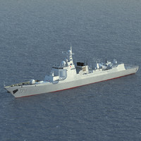 Chinese Navy Type 052C Destroyer Luyang II Class (low polygon)