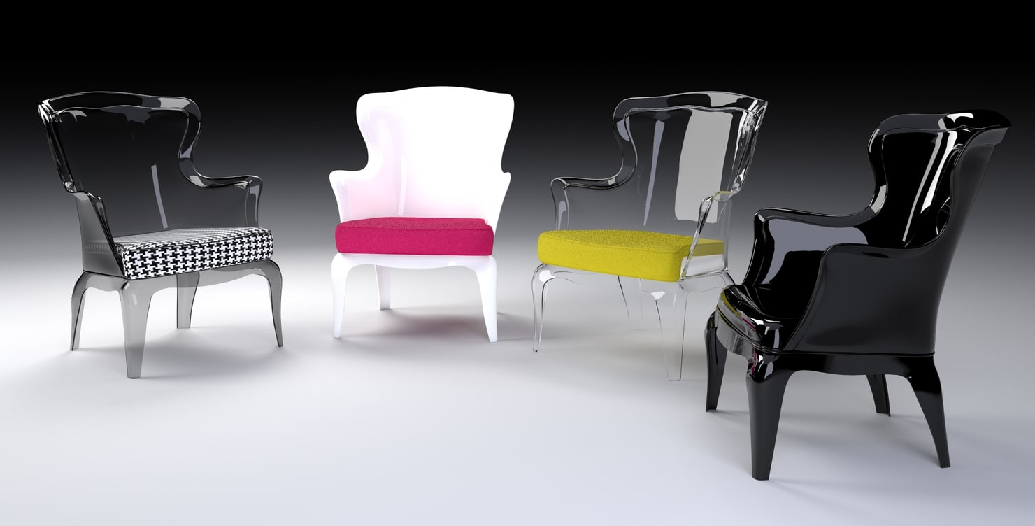 3d pasha armchair model