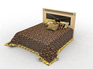 3ds max bed oak