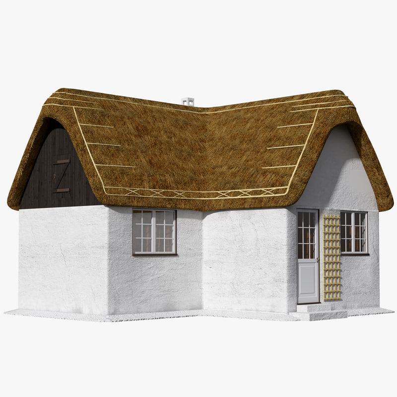 3d c4d cottage