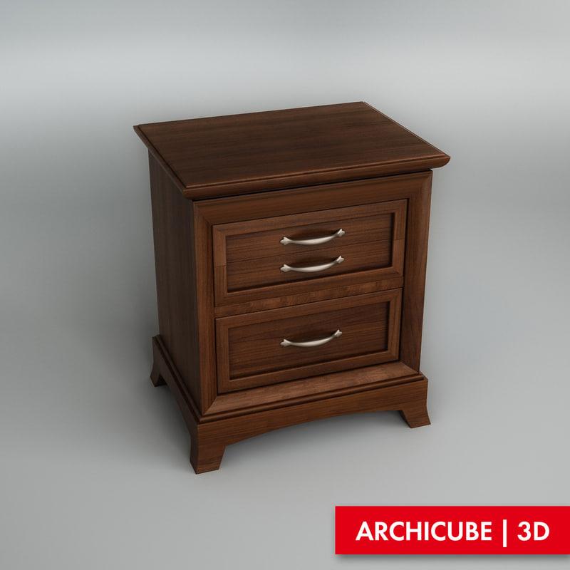 3d model bedside table