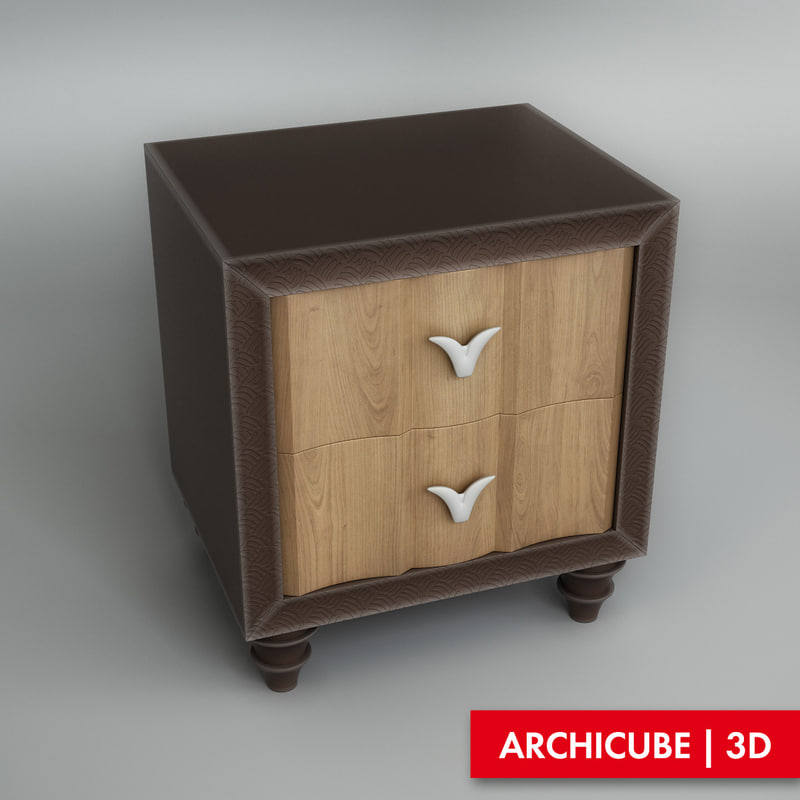 3d model bedside table