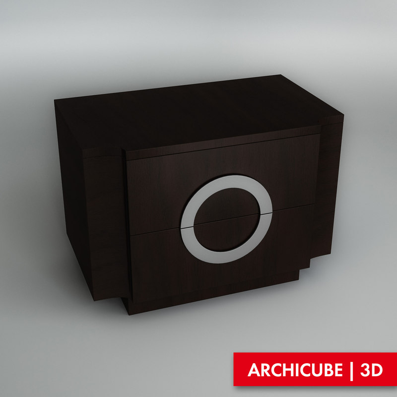 3ds max bedside table