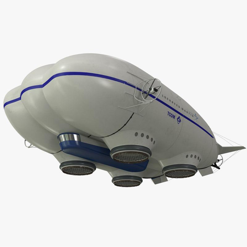 3d model aerostatic hybrid airship lockheed martin