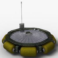 3d model floating bio reactor