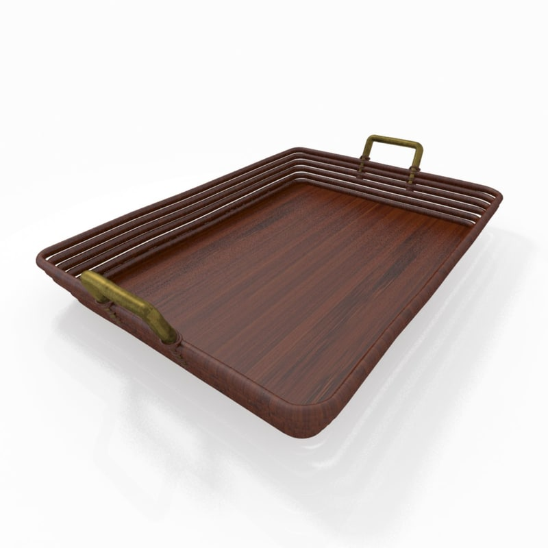 3d model of basket tray