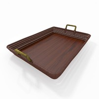 3d model of basket tray