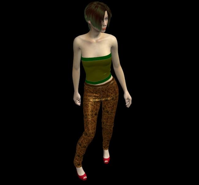 free marvelous 3 nylon leggins 3d model