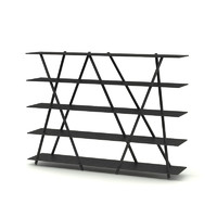 Contemporary Steel Bookshelf