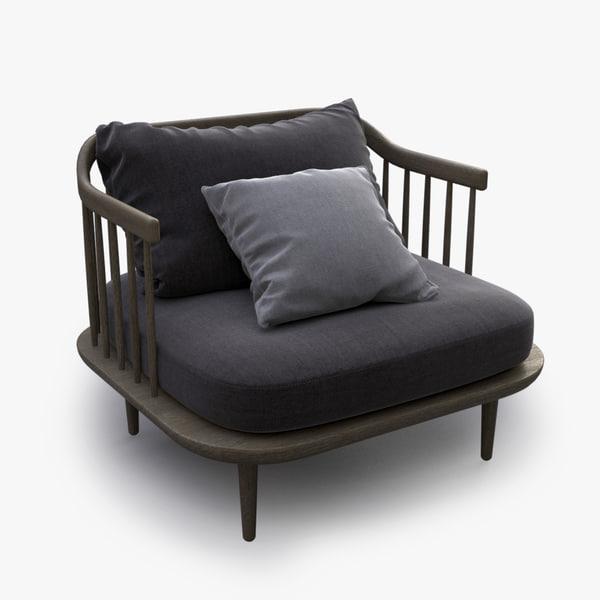 fly sofa armchair obj