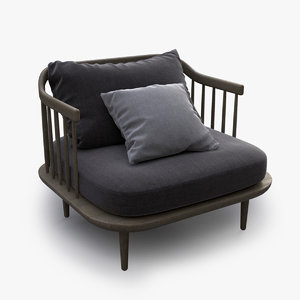 fly sofa armchair obj