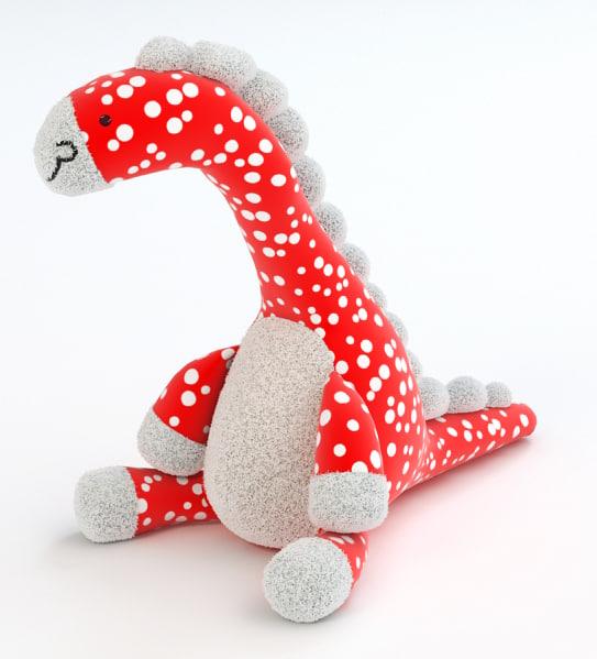 dario dinosaur toy 3d model