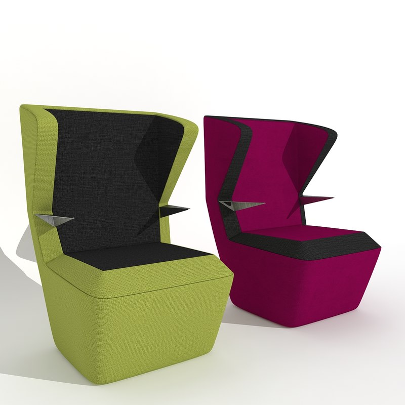3d model wing chair fuga