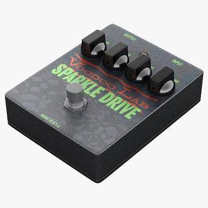 3d guitar overdrive pedal voodoo