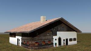 3dsmax low-poly homestead farm house
