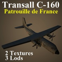 transall faf aircraft 3d model