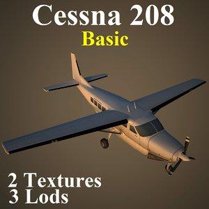 cessna 208 basic 3d model