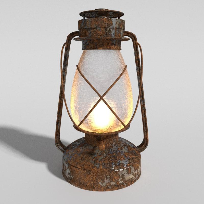 3d rustic lantern
