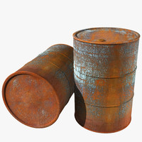 old rusty barrel 3d max