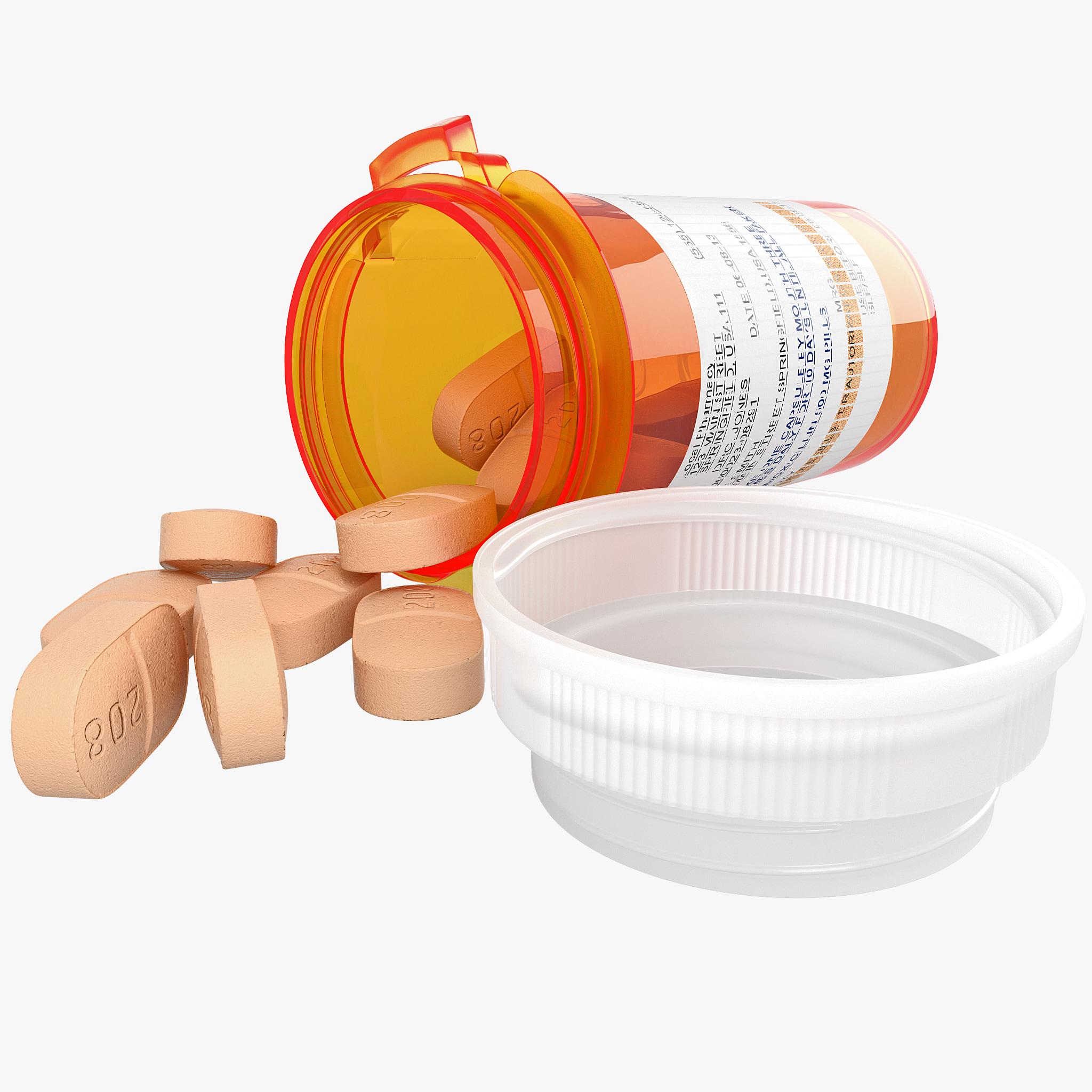 3dsmax pill bottle