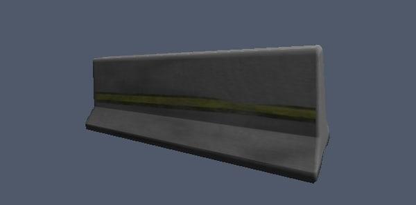 free barrier 3d model