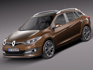 2013 2014 wagon estate 3d model