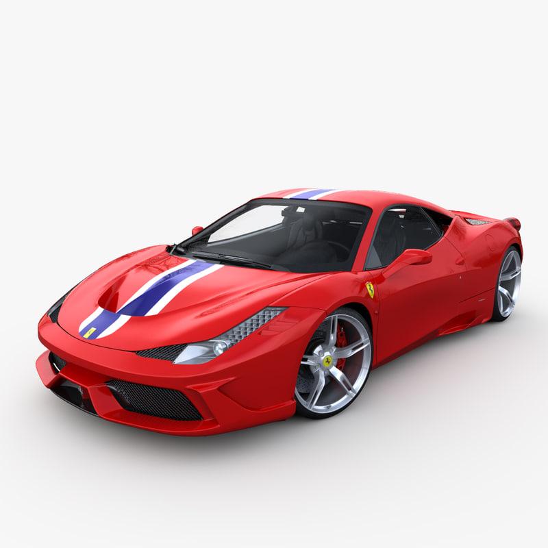 Ferrari 458 Speciale: 3d Model Ferrari 458 Speciale 2014