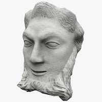 satyr face statue 3 3ds