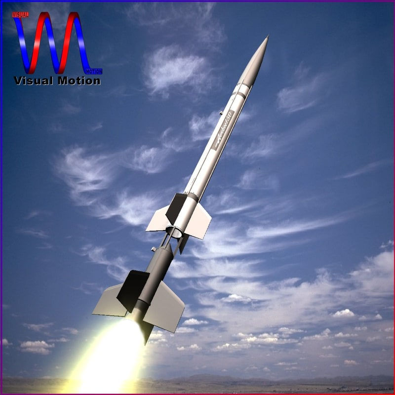 3d model sounding rocket aerobee 150