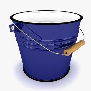 bucket modeled 3d 3ds