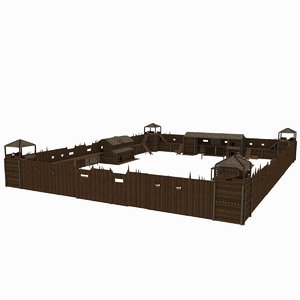 3d model fort colonization america