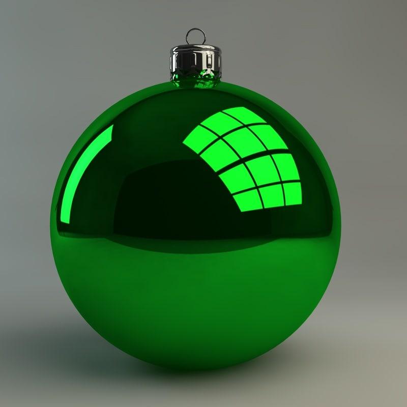 basic christmas ornament 3d model