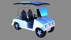 golf cart 3d obj