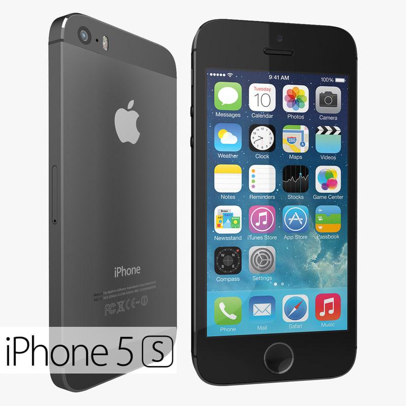 version apple iphone 5s 3d max