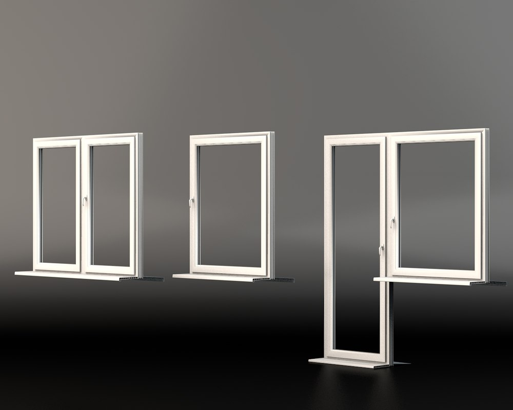 Plastic windows 3d model for Window 3d model