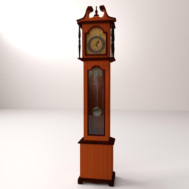 grandfather clock 3ds