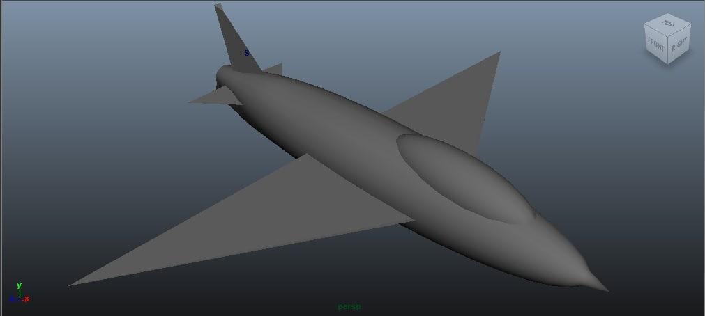 free simple jet 3d model