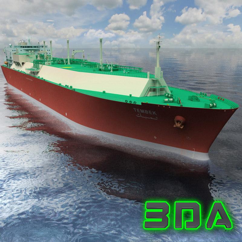 3dsmax lng tanker ship gas