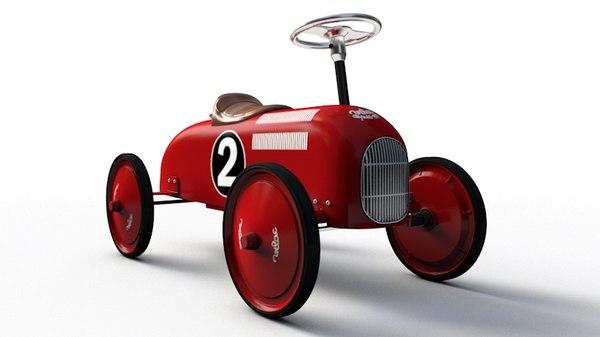 vintage ride-on car obj