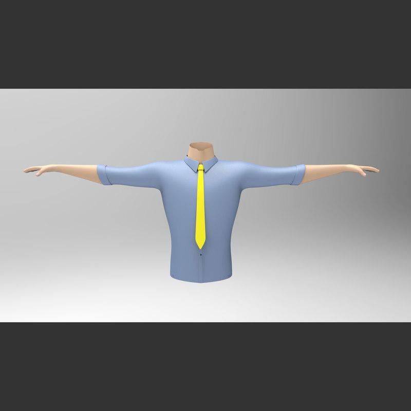 3ds shirt tie