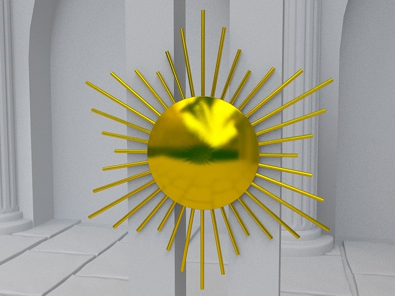 sun mirror 3d model