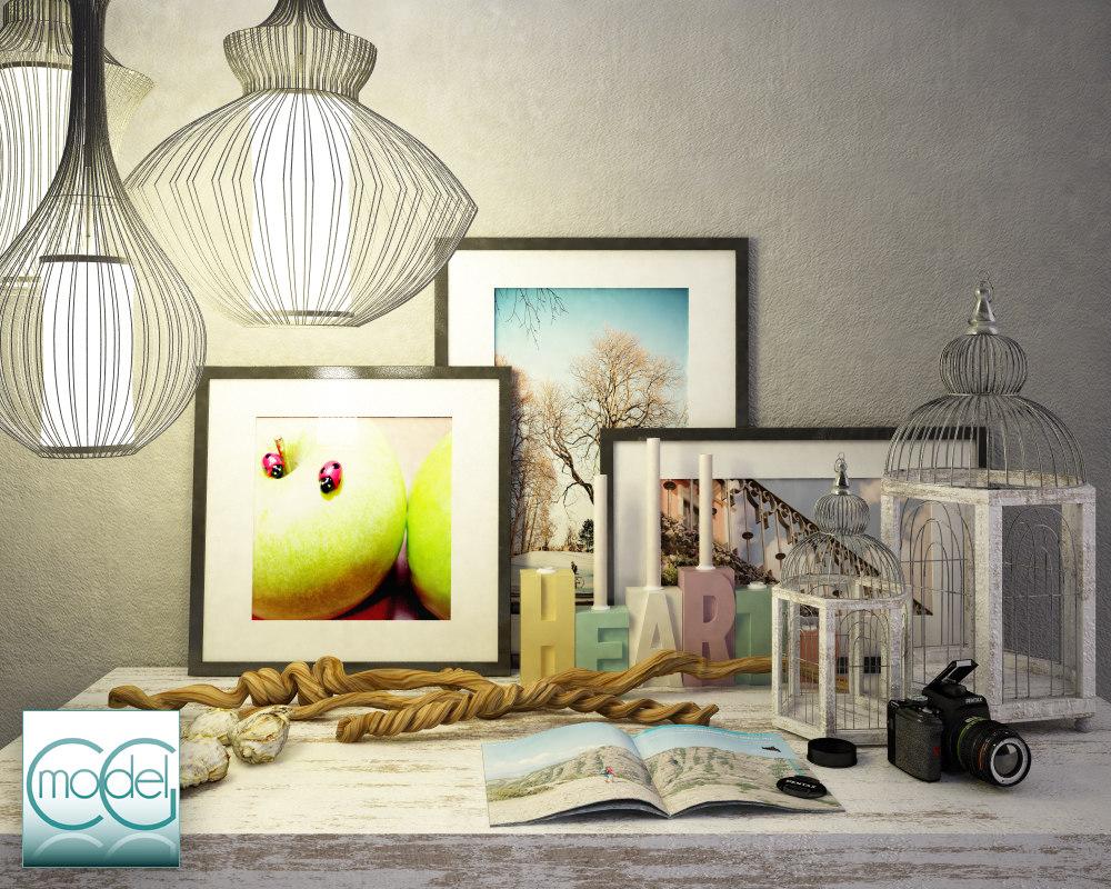 object interior set 3d 3ds