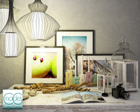 object interior set 3d 3ds