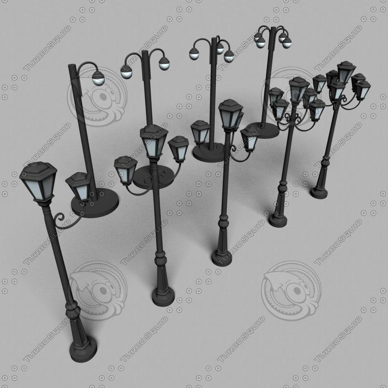street lamp lighting obj